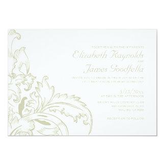 Ivory Flourish Wedding Invitations