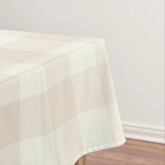 Ivory Gingham / Buffalo Check Tablecloth