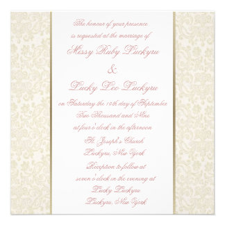 Ivory Gold Invitation