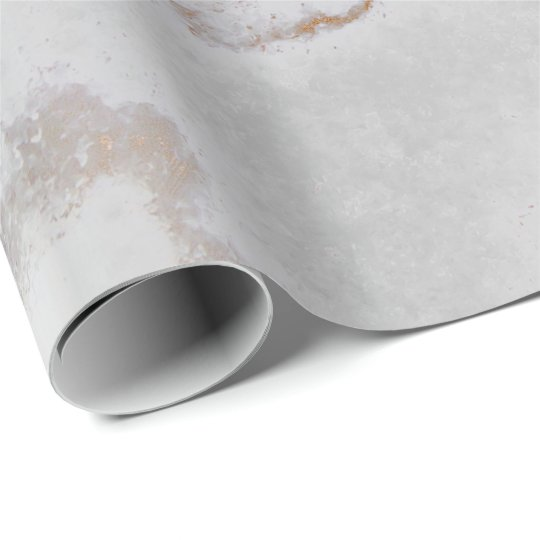 Ivory Gold Silver Gray Metallic Strokes Marble Wrapping