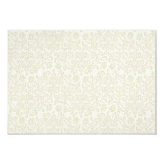 Ivory Lace Damask RSVP Note Card 9 Cm X 13 Cm Invitation Card