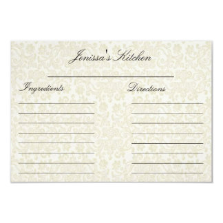 """Ivory Lace Recipe Cards (3.5"""" x 5"""")"""