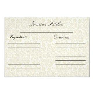 "Ivory Lace Recipe Cards (3.5"" x 5"") 9 Cm X 13 Cm Invitation Card"