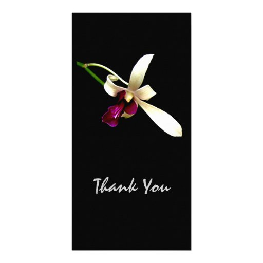 Ivory Orchids Photo Card