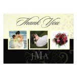 Ivory + Pearl Damask, Thank you cards, DIY Personalized Invitations