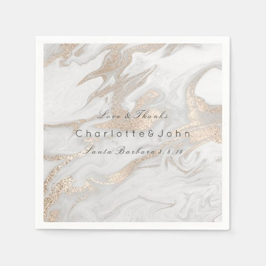 Ivory Pearly Titanium Gold White Gray Marble Party