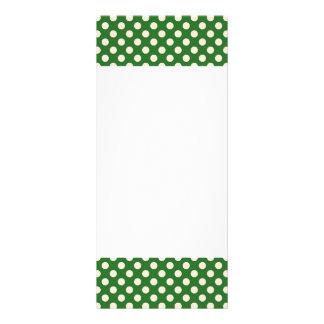 Ivory Polka Dots on Green Rack Card