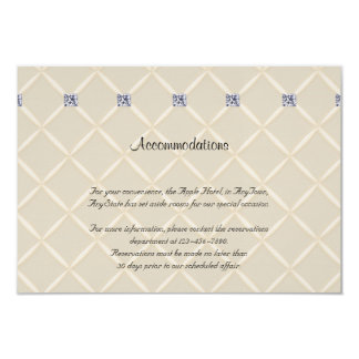 Ivory Quilted Bling Diamonds Posh Wedding Insert Card