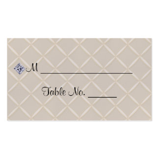 Ivory Quilted Bling Posh Wedding Place Cards Pack Of Standard Business Cards
