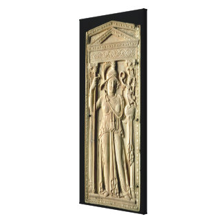 Ivory relief tablet canvas print