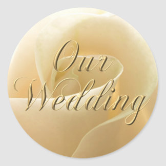 Ivory Rose Wedding Stickers
