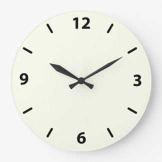 Ivory Round Wall Clock with Numbers