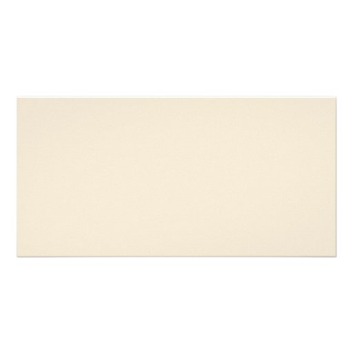 Ivory Sand Tan Color Trend Blank Template Personalized Photo Card