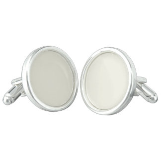 Ivory Solid Color Cuff Links
