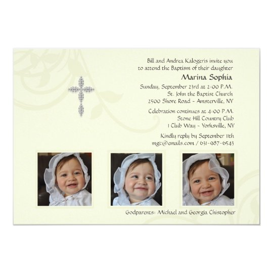 Ivory Splendour Photo Invitation