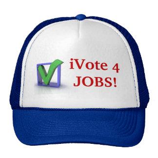 iVote 4 JOBS! Cap Trucker Hats