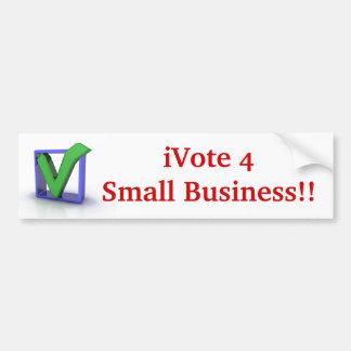 iVote 4 Small Business Bumper Sticker