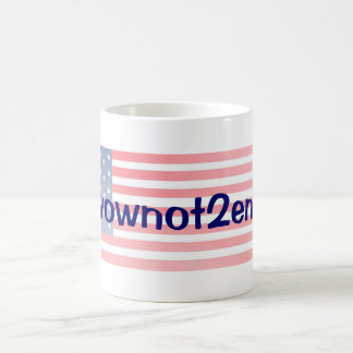 #Ivownot2enroll with Stars Basic White Mug