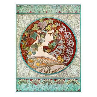 Ivy - Alphonse Mucha Postcard