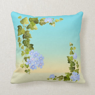 Ivy and Blue Floral Print Cushion