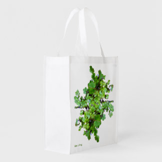 Ivy and Flowers -Reusable Grocery Bag