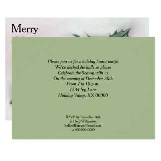 Ivy and Holly Holiday Party Card