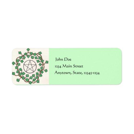Ivy And Pentacle Return Address Label