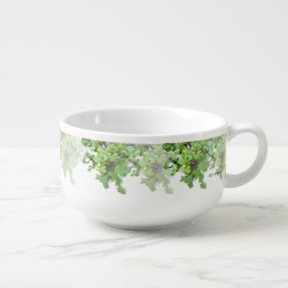 Ivy and Wild Flowers Soup Mug
