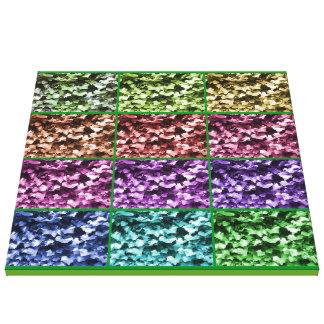 Ivy Colour Progression 1 Wrapped Canvas 2ftx2ft