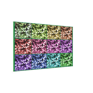 Ivy Colour Progression Wrapped Canvas - Large
