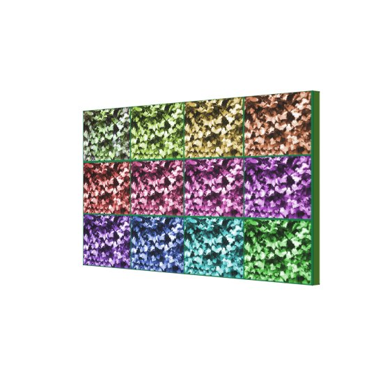 Ivy Colour Progression Wrapped Canvas - Small