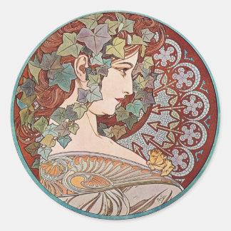 Ivy godess classic round sticker