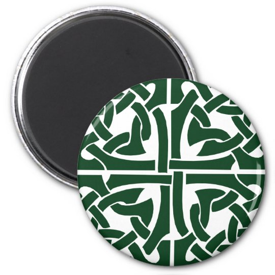 Ivy Green Celtic Knotwork 6 Cm Round Magnet