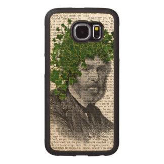 Ivy Head Plant Head Wood Phone Case