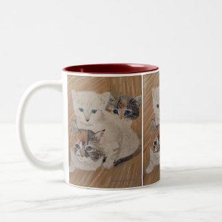 Ivy, Iris & Dixie Painting Two-Tone Mug