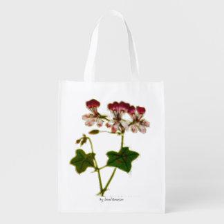 Ivy-leaved Geranium Reusable Grocery Bag
