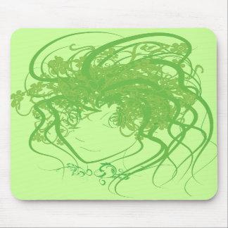 Ivy Medusa Green Mouse Pad