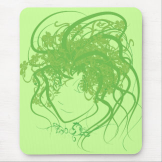 Ivy Medusa Green Mouse Pad