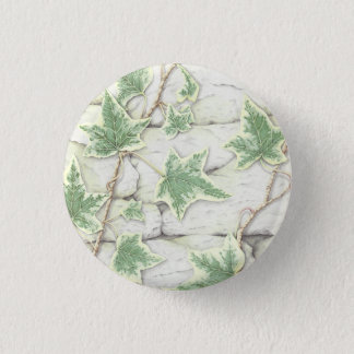 Ivy on a Dry Stone Wall in Coloured Pencil Badge