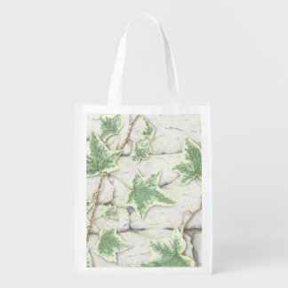 Ivy on a Dry Stone Wall in Pencil Reusable Bag