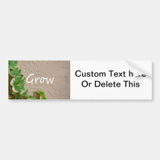 ivy on left word grow garden design neat nature bumper sticker