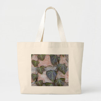 ivy on the tree large tote bag