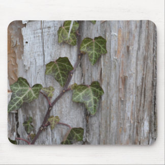 Ivy on Wood Mouse Mat