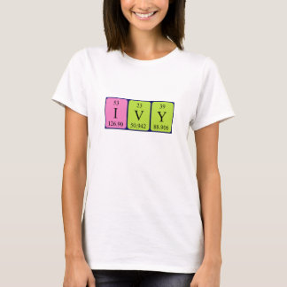 Ivy periodic table name shirt