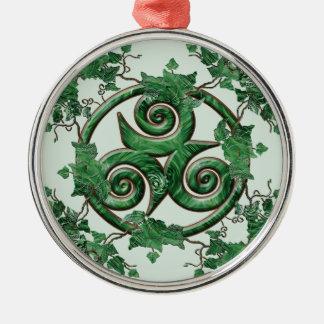 Ivy Triskel Christmas Ornament