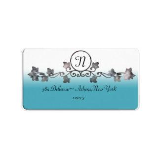 ivy wedding monogram address label