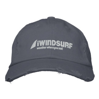 iW Blue Distressed Hat