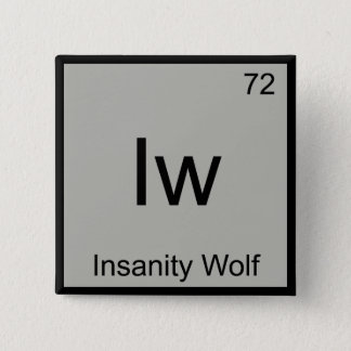 Iw - Insanity Wolf Chemistry Element Symbol Meme T 15 Cm Square Badge