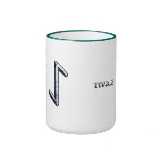 Iwaz rune mug