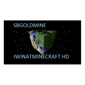 IWINATMINECRAFT HD CARDS PACK OF STANDARD BUSINESS CARDS
